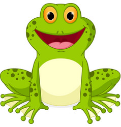 happy frog cartoon vector image vector image