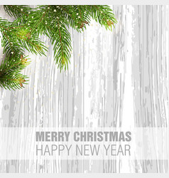 merry christmas happy new year greeting vector image vector image