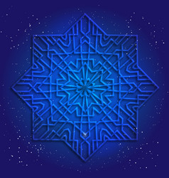 Sacral geometry 3d design mandala vector