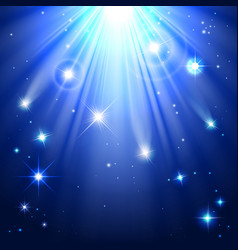 stars with rays of light vector image vector image