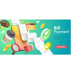 3d conceptual bill payment vector