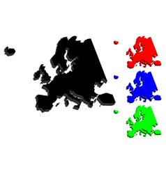 3d map of europe vector image