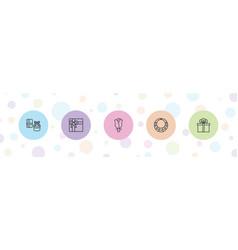 5 present icons vector