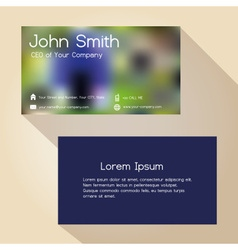 Abstract blur colorful simple business card design vector