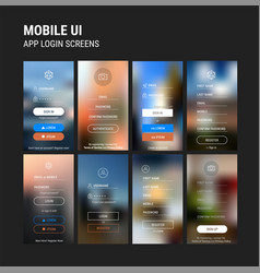 abstract ui sign in and sign up screens mockup kit vector image