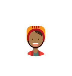 african children face happy girl helmet portrait vector image