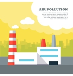 Air Pollution Concept in Flat Style Design vector image