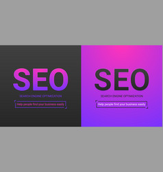 banner of search engine optimization vector image