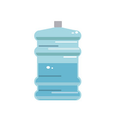 Big bottle of drinking water container plastic vector
