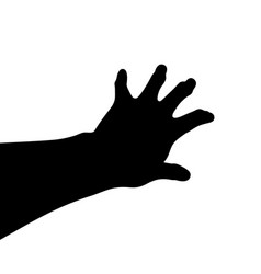 black hand silhouette awaken from the grave vector image