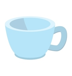 Blue baby cup cartoon icon vector image
