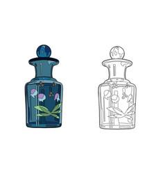 Blue perfume bottle vector