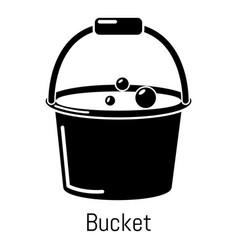 Bucket icon simple black style vector