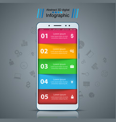 business infographic smartphone digital gadget vector image