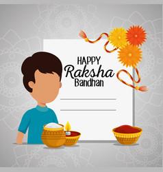 Card raksha bandhan celebration event vector