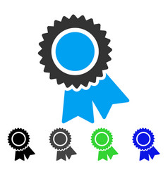 Certification flat icon vector