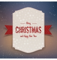Christmas realistic big paper Banner with Ribbon vector image