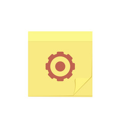 comment message note settings task icon vector image