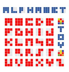 cubic alphabet vector image