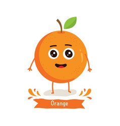 cute orange character vector image