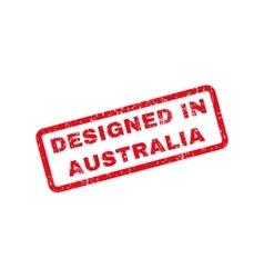 Designed in australia text rubber stamp vector