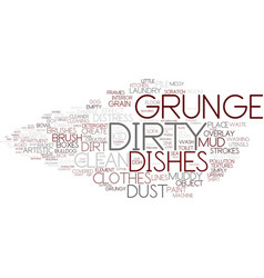 dirty word cloud concept vector image