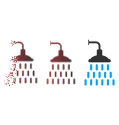 dispersed pixel halftone shower icon vector image
