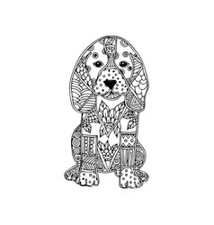 dog animal ornament vector image