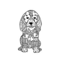 dog animal ornament vector image