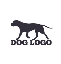 dog logo design canine animals silhouettes vector image
