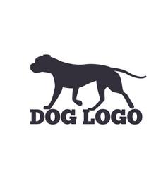dog logo design canine animals silhouettes vector image