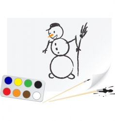 drawing snowball vector image