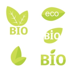 Ecology organic icon set Eco-icons vector image