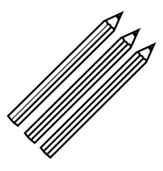 Figure colors pencils icon stock vector