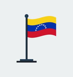 flag of venezuela flag stand vector image