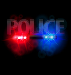 flashing lights of police vector image