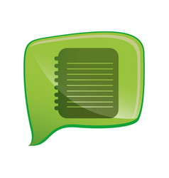 Flat notebook icon education vector