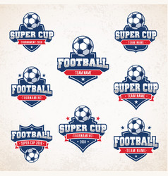 football soccer logos vector image