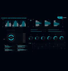 futuristic user interface design element set 11 vector image