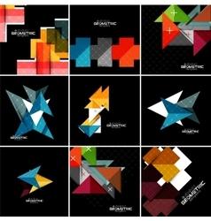 Geometrical banner set vector