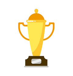 golden cup for winner champion isolated on white vector image