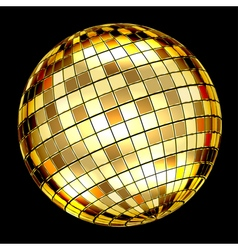 Golden mosaic ball vector