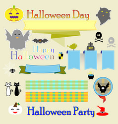 halloween decoration ribbons vector image