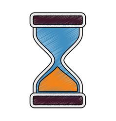 hourglass antique instrument vector image