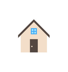house solid icon home and building sign vector image
