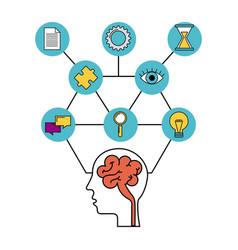 human head brain creative idea inspiration vector image