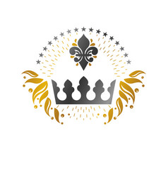 Imperial crown emblem heraldic coat arms vector