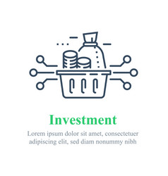 investment fund strategy diversification vector image