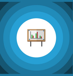 Isolated chart flat icon whiteboard vector