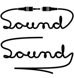 Jack connectors sound calligraphy vector